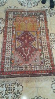 Antiker Handgewebter Teppiche 150 90