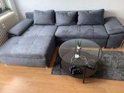 Ecksofa Couch Grau Mikrofaser