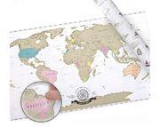 Rubbel-Landkarte als Poster für Welt-Entdecker