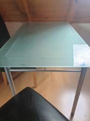 Esszimmertisch Glastisch 125x75cm