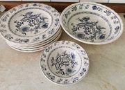 Keramik Geschirr Zwiebelmuster