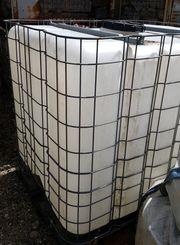 Wassertank in Gitterbox Palettengröße 1000L