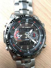 CASIO Funk-Solar-Alarm-Armbanduhr
