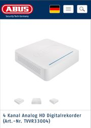 ABUS TVVR33004 Überwachungssystem