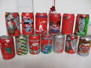 36 verschlossene Cola-Motiv-Dosen abzugeben