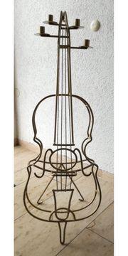 Kerzenständer groß Cello Musikinstrument aus