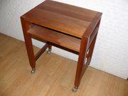 Beistelltisch Rolltisch Mahagoni Stehpult