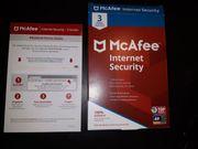 Verkauf eine 3er Lizenz MaAfee