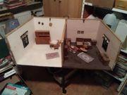 Küche u Wohnzimmer Spielzeug Puppenstube