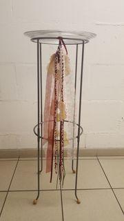 Deko-Blumenständer-Metallständer-Säule mit Glasteller