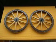 5 Alte Holzwagenräder mit Eisenbereifung