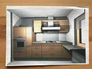 Einbauküche Buche mit Elektrogeräten