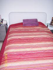 Polsterbett mit Bettkasten weiß-veloure