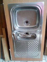 Küchenspüle Waschtisch mit Armatur