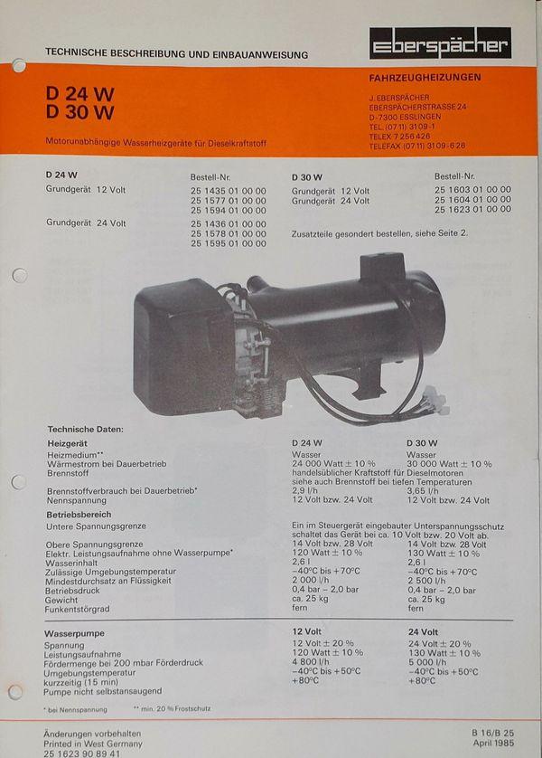 Standheizung 24 V Diesel für