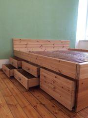 Doppelbett 2x2 aus Kiefernholz