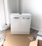 Waschbeckenunterschrank weiß 60 cm NEU
