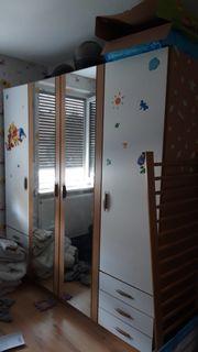 Kinderschrank 4 Türen 6 Schieber