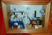 Puppenküche im Schaukasten 40 - v
