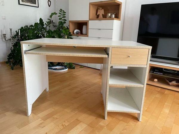 Schreibtisch weiß Ahorn