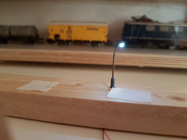 LED Peitschenmast Lampe Modelleisenbahn