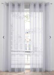 Gardinen silber 265x140
