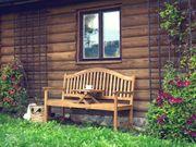 Gartenbank Holz aufklappbarer Abstelltisch HILO