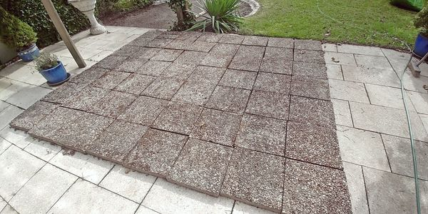 Trittplatten Terrassenplatten Gartenhaus-Fundament ca 9