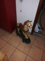 Holz pferd als deko