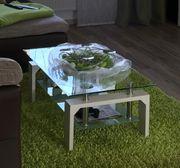 Couchtisch Glas Wohnzimmer weiß -gebraucht-