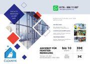 Fensterreinigung - Glasreinigung - Gebäudereinigung - Angebot