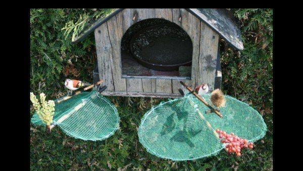 Große Vogelfalle Bird Trap Stieglitz