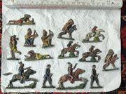 alte Zinnfiguren 12 Indianer und