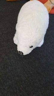 Eisbär Kuscheltier neu