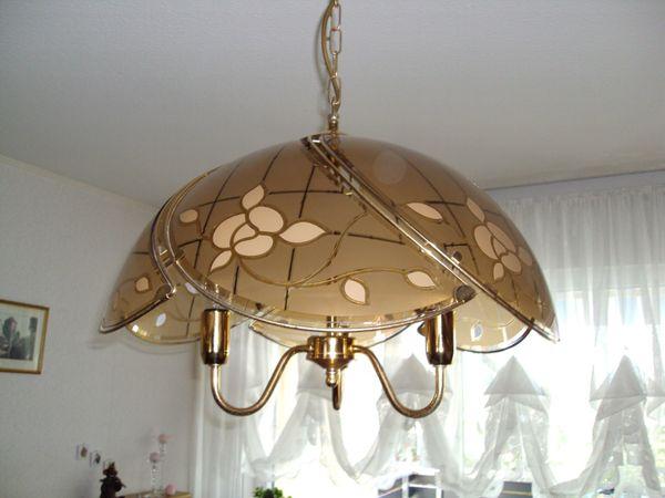 Wohnzimmerlampe aus Glas