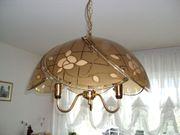 Wohnzimmerlampe aus Glas und Messing