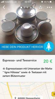 Espresso- und Teeservice