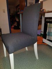 4 graue Ikea Stühle