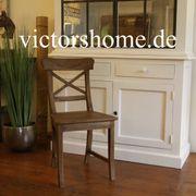 Stabiler Holzstuhl antik Look Küchenstuhl