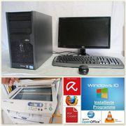 Büro PC Komplettsystem mit SSD