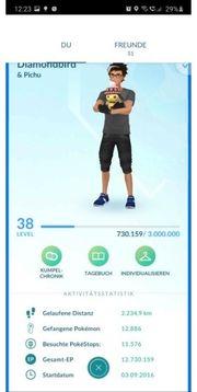 Pokemon Account lvl 38 Legende