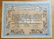 Seltener historischer Anteilsschein von 1895