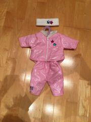 Winter Puppenkleidung Set rosa weiß