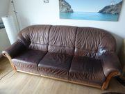 Schöne hochwertige Couch aus Leder