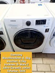 Samsung Waschtrockner A 8kg waschen