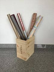 Weinkiste Geschenkpapierständer Regenschirmständer Papierkorb