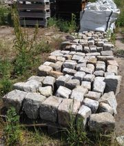 Graues Großes Granit Pflaster Naturstein