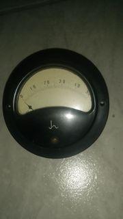 Altes Amperemeter rund 1952 Fa