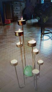 Schöner Teelichthalter 8-flammig