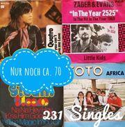 Single-Schallplatten der 60er 70er-Jahre